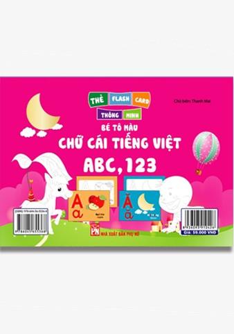 Thẻ Flash Thông Minh Bé Tô Màu Chữ Cái Tiếng Việt ABC,123